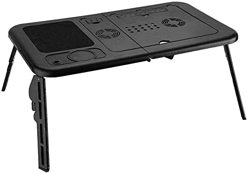 Adjustable Computer Desk Gaming Table Folding TV Tray Home Office Workstation