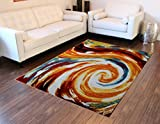 Modern Contemporary Area Rug, Multi Colors (8 Feet X 10 Feet) Review