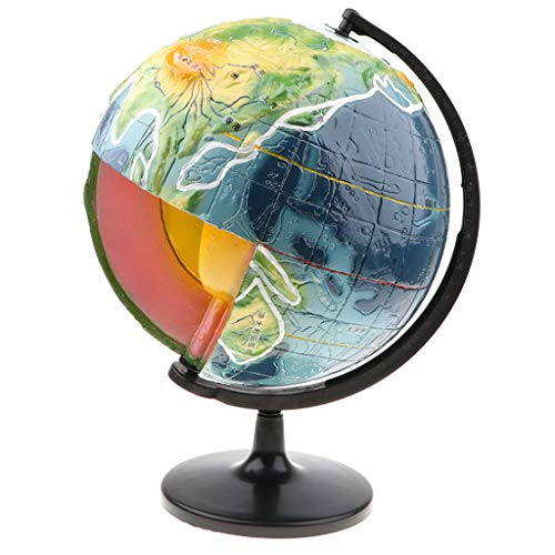 Earth Section Cross Model (B Blesiya Earth Crust Globe Crust Structure Learning Model Geography Science Toy for Kids Students)