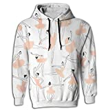 Mens 2017 Cool Ballet Hoodie Design Graphic Sweatshirts Hip Hop College Big Boys Hoodie Sweatshirt