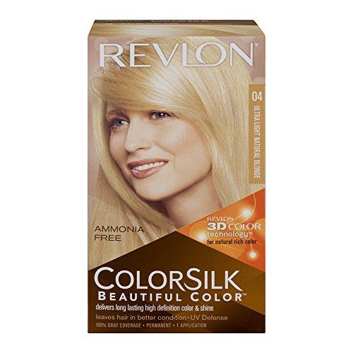 (Revlon ColorSilk Beautiful Color Permanent Color, Ultra Light Natural Blonde 04, Pack of 3)