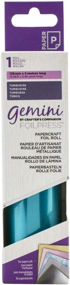 5 m color turquesa Rollo de papel para manualidades Gemini GEM PC-Turq