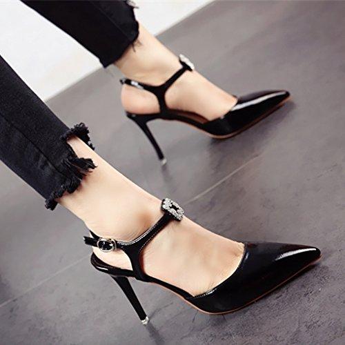 Estilo YMFIE Superficial con Tacones Diamantes Sandalias Damas Finos Nuevo Moda Zapatos Verano b de de S5pxrFq5