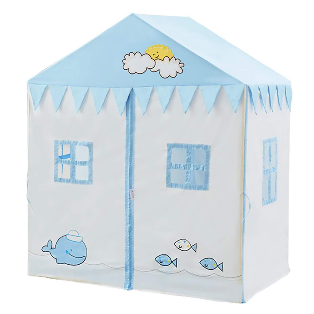Early Education Furniture & Supplies Color : Blue, Size : 126 * 80 * 146cm Play Tents House Toy House Reading Corner Baby Indoor Birthday Gift Blue Large Space Game House Game Tent 126cm Education Supplies