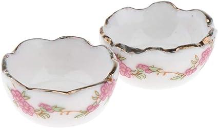 1:12 Scale 4 Ceramic Plates /& Metal Cutlery Set Tumdee Dolls House Accessory