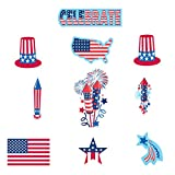 30-Piece Patriotic Paper Cutout Party Decorating Kit