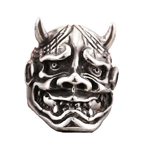 Japanese Gothic Fashion (Hannya 316L Stainless Steel Evil Demon Devil Japanese Noh Kabuki Wall Tattoo Art)