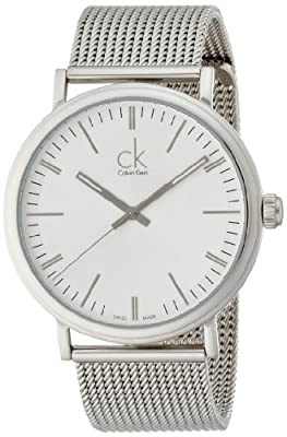 Calvin Klein Men's 'Surround' Swiss Quartz Stainless Steel Automatic Watch, Color:Silver-Toned (Model: K3W21126)