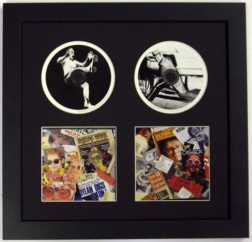 Double CD Frame and Double CD Booklet Frame--Frame 2 CDs-- Featuring Black Mat Design Glass Front and Solid Wood Black - Cd Frame Glasses