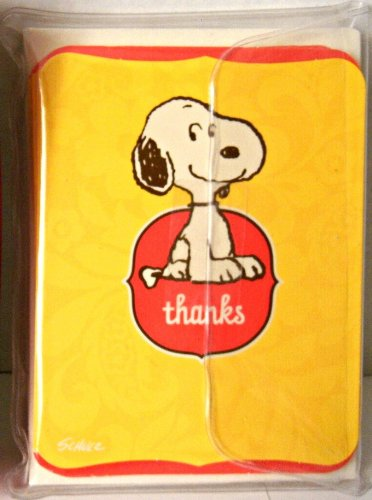 Hallmark Peanuts Baby Snoopy 10 Thank You Cards & - You Thank Snoopy