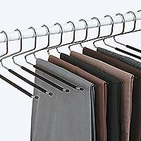 Lot de 12 - Cintre Pantalon - Pli intelligent - Anti Glisse - Choix et Rangement Facile