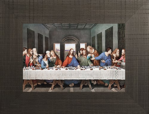 The Last Supper By Leonardo Da Vinci 20x26 Inspirational Religious Bible Verse Quote Saying Jesus Figurine Psalm Mother Theresa Angel Saint Framed Art Print Wall Décor Picture