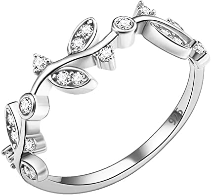 STERLING SILVER CLEAR JEWEL  HEART DESIGN RING Various Sizes  J,L,N,O,P    Ref 1