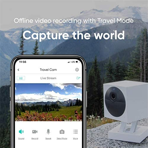 WYZE Cam Outdoor Starter Bundle (Includes Base Station and 1 Camera), 1080p HD Indoor/Outdoor Wire-Free Smart Home Camera with Night Vision, 2-Way Audio, Works with Alexa & Google Assistant, White