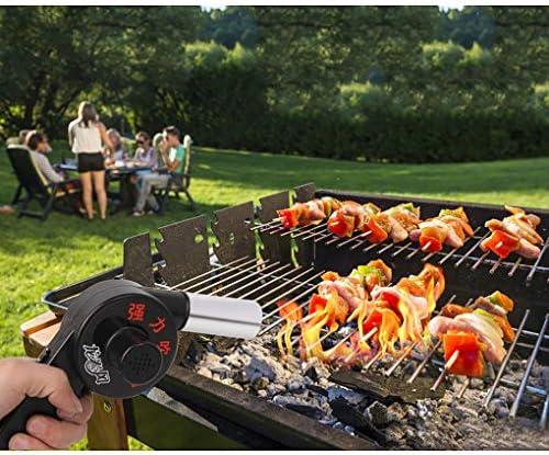 FXD Souffleurs Ventilateur De Barbecue en Plein Air, Ventilateur De Jardin, Outil pour Accessoires De Barbecue, Ventilateur Électrique, Ventilateur Au Carbone, Portable en Carbone