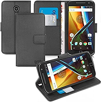 Orzly® - Multi-Functional Wallet Stand Case para Moto G4 & Moto G4 ...