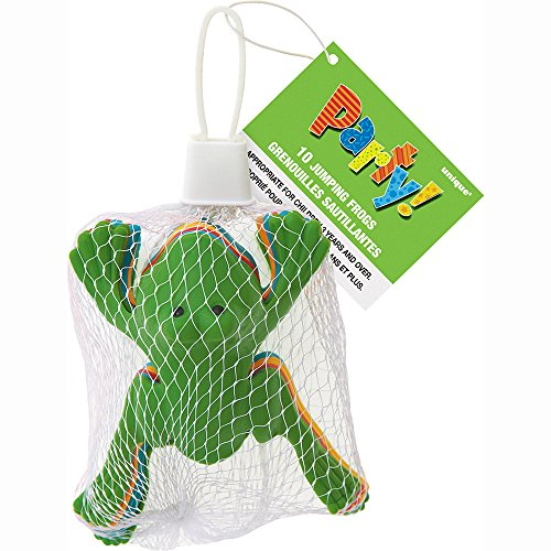 Plastic Jumping Frog Party Favors, Assorted 10ct (Jumping Frogs)