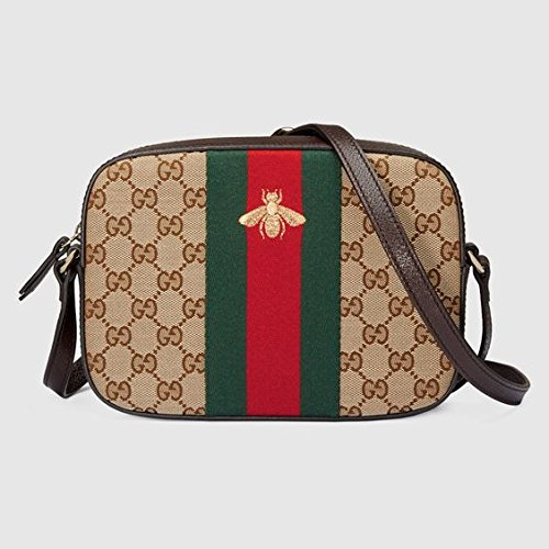 Gucci women's shoulder bag original gg supreme bee beige