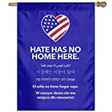 Hate Has No Home Here 100% Polyester House Flag Decorative Garden Flag Yard Banner Garden Flags 27x37