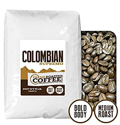 100% Colombian Supremo Coffee, Fresh Roasted Coffee LLC