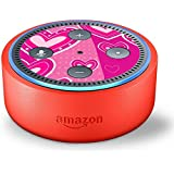 Skin Decal Vinyl Wrap for Amazon Echo Dot Kids Edition Stickers Decals Fun - Pink Hearts Girls Rule