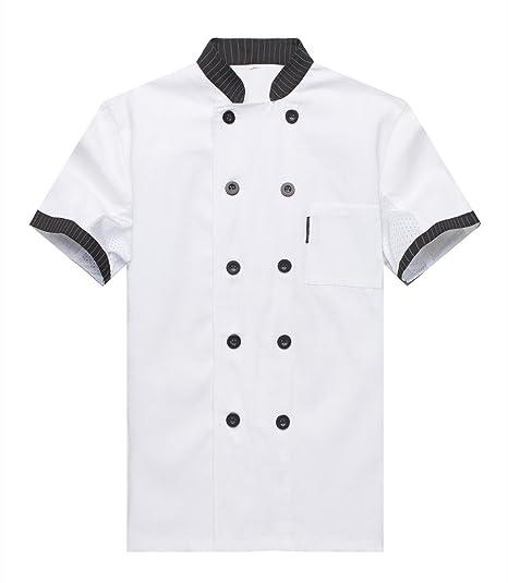 Giacche da chef Manica Corta Una varietà di colori  Amazon.it  Abbigliamento 890bd44e3bd9
