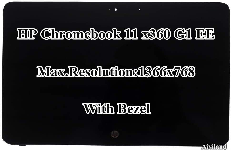 "11.6"" HD 1366x768 IPS LCD LED Display Touch Screen with Bezel Assembly for HP Chromebook X360 11 G1 EE"