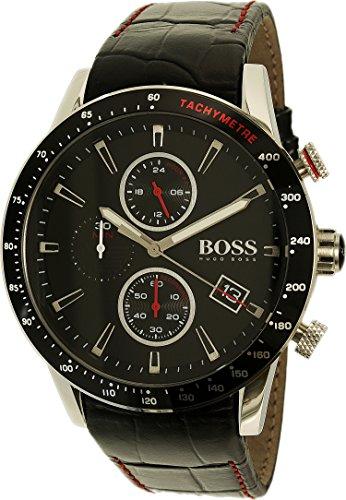 Hugo Boss Men's 1513390 Black Leather Quartz Watch