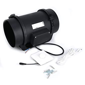 Ventilador de ventilación, 6.3in EC Motor Ventilación Ventilador ...