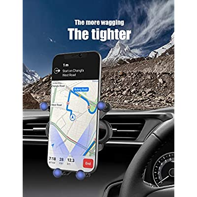 PaiTree Air Vent Phone Mount, Gravity Car Cell Phone Holder for Car, Auto Clamping Universal Phone Mount 360°Rotation Car Phone Cradle Mount for iPhone 11 Pro Max/Xs/XR/X/8, Galaxy Note 10/S10/S9