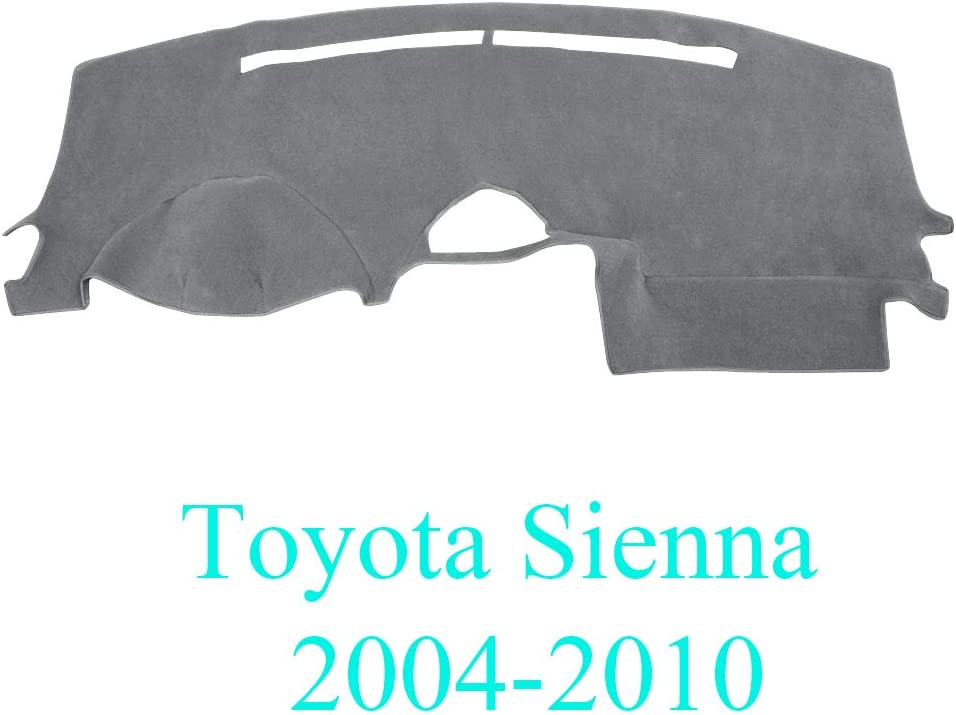AKMOTOR Dash Cover Dashboard Cover Mat Fit for Toyota Sienna 2004-2010