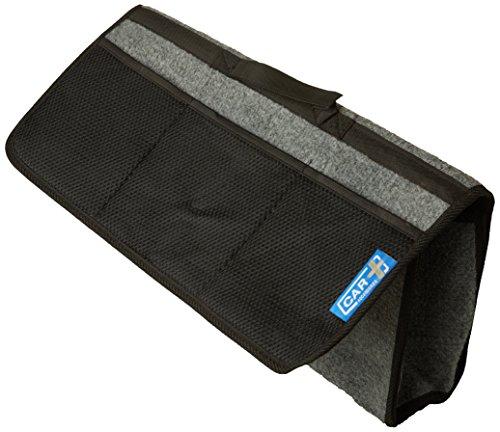 Sumex 2808032 Kofferraumtasche aus schwarzem Teppichbodenstoff mit Klettverschluss, 50x25cm