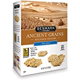 Sesmark Sea Salt Ancient Grains All Natural Snack Crackers, 3.5 Ounce (Pack of 6)