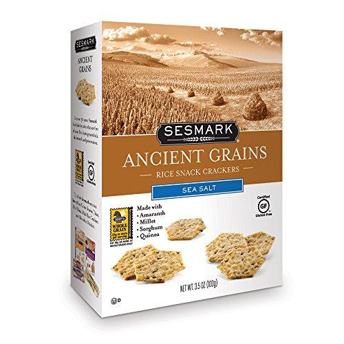 Sesmark Ancient Grains Rice Crackers, Sea Salt, 3.5 Ounce (Pack of 6)