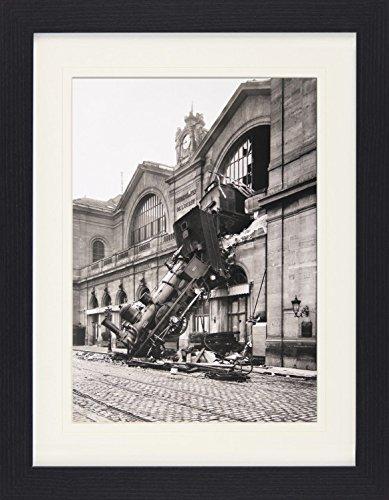 1art1 113807 Zü ge - Zugunglü ck Am Bahnhof Montparnasse, Paris, Frankreich, 1895 Gerahmtes Poster Fü r Fans Und Sammler 40 x 30 cm