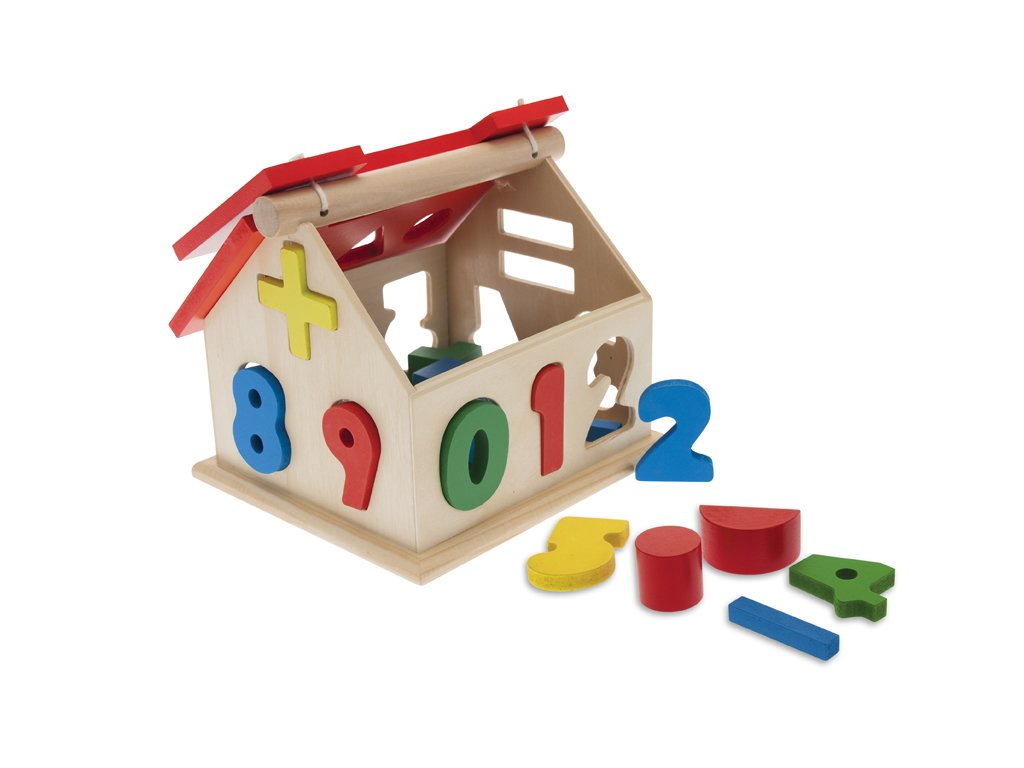 TEOREMA 40439 - Educational Wooden House with Coloured Shapes