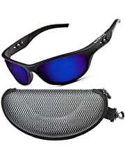 ZILLERATE Gepolariseerde Sportzonnebril voor Heren & Dames, Rijden Fietsen Golf Vissen Hardlopen Zeilen Skiën, UV400 Bescherming, Wrap Around Lichtgewicht Duurzaam TR90 Montuur, met Harde Koker