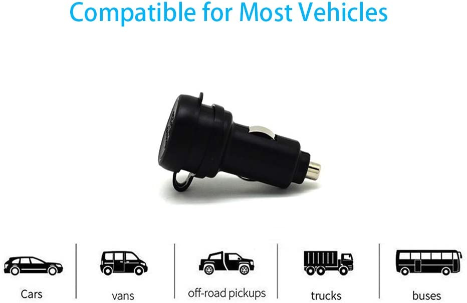 Black and Marine Made in Taiwan Auto Shunt for Auto Truck Cliff-Top 3.3 Amp Ultra Fast USB Car Charger Motorcycle