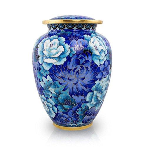 Cloisonne Vibrant Blue Cremation Urn (Cloisonne Keepsake Cremation Urn)
