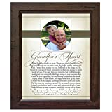 The Grandparent Gift Heart Collection 8x10 Frame, Grandpa's Heart