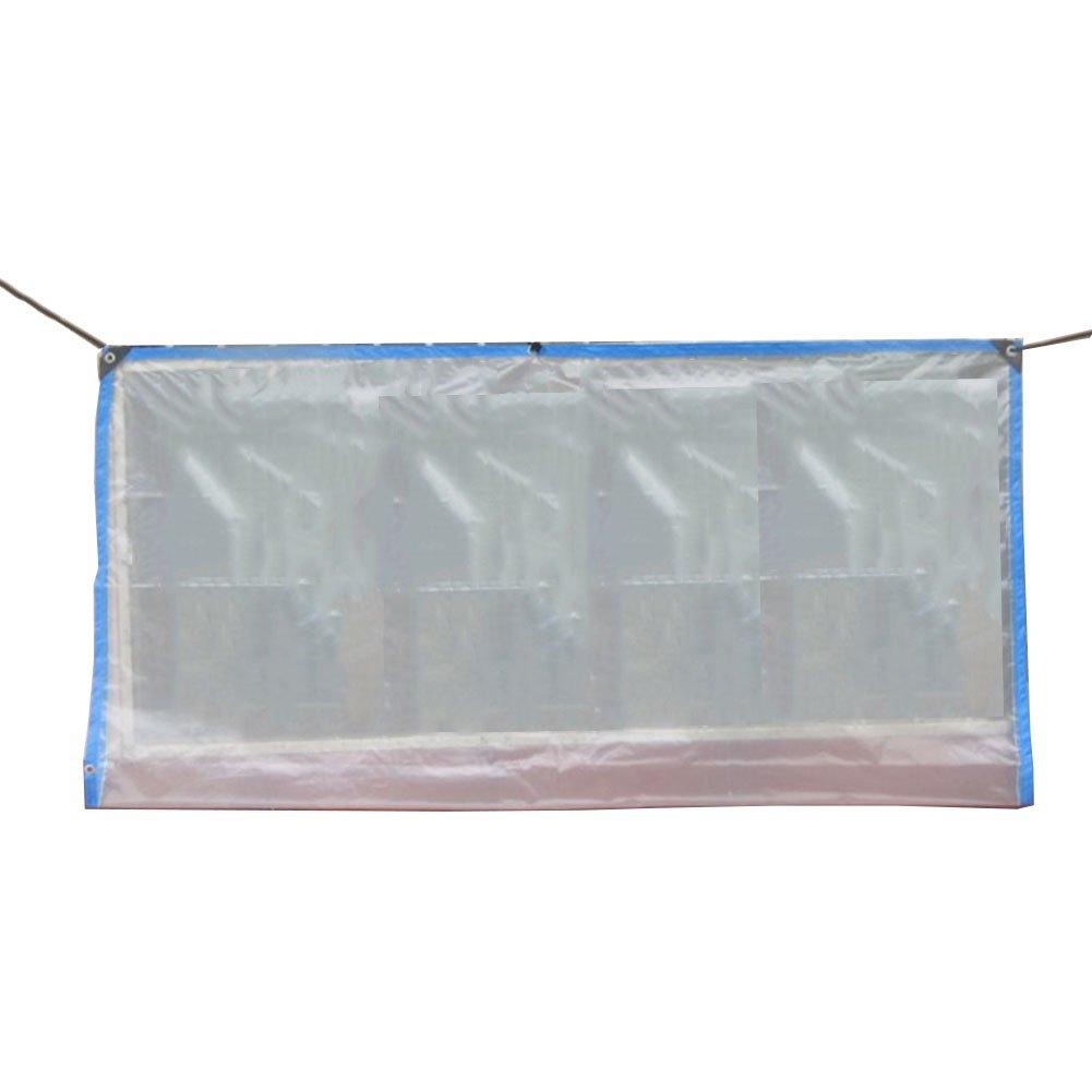 LQQFF Lona Transparente para sombrilla, toldo de Aislamiento de Flor toldo de protección de Planta de Flor de Verde con Polietileno de Agujero de Metal Parasol portatil (Color : Claro, Tamaño : 2x1m) 32a6f8