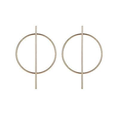 New Gold Alloy Earring Spiral Geometric Women Pendant Drop Earrings Party Gifts