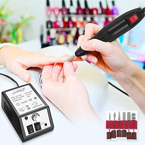 SPTHTHHPY Limetta Elettrica per Unghie Professionale, Macchina per Manicure Pedicure Kit perLimare Unghia, Portatile Elettronica Limetta Drill Acrilica (20000RPM)