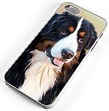 iPhone 6 6s Case Bernese Mountain Dog Berner Senner Cattle Swiss Alps White Plastic