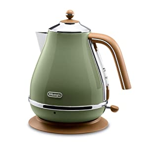 Delonghi Electric kettle (1.0L)「ICONA Vintage Collection」 KBOV1200J-GR (Olive green)【Japan Domestic genuine products】