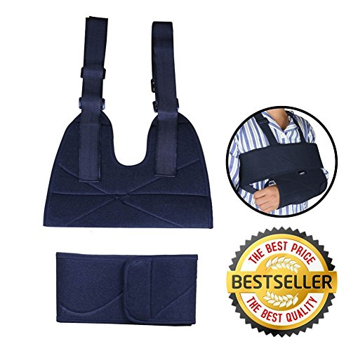 Arm Sling | Supreme Comfort Medical Arm Shoulder Sling Immobilizer and Swathe | Premium Grade Non-Allergenic Non-Toxic Lightweight Fabric | Ergonomic Universal Design with Adjustable Length | 786 by My Arm Sling