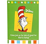 Dr Seuss Cat in the Hat Party Supplies - Invitations (8)