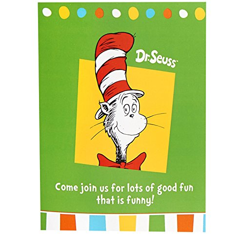 Dr Seuss Cat in the Hat Party Supplies - Invitations (8) (Seuss Invitations)