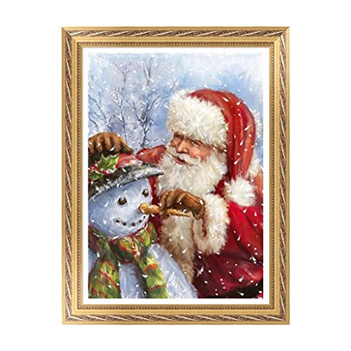 Arich DIY 5D Santa Claus Diamond Embroidery Painting Cross Stitch Home Decor Xmas Gift (In Tree Christmas Stuck Cat)