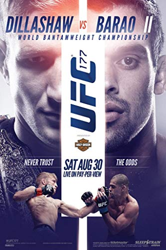 Pyramid America Laminated Official UFC 177 TJ Dillashaw vs Barao II Sports Sign Poster 12x18 inch (Best Fighter In Ufc 2)